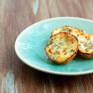 Crustless Asparagus & Rosemary Mini-Quiches.