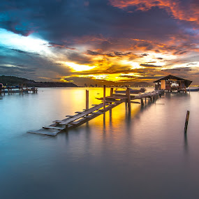 Dove Jetty, Penang by Lim Keng - Landscapes Waterscapes