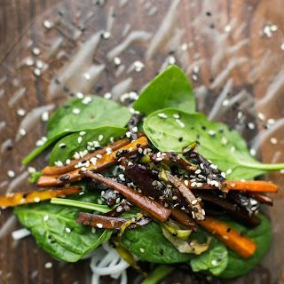 Sesame Roasted Carrot Summer Rolls.