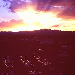 The Beautiful southwest by John Lewis - Landscapes Sunsets & Sunrises ( sunset clouds mountains southwest )