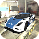 fast car racing 3D icon