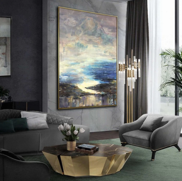 Abstract Modern Interior Painting