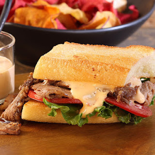 Korean-Style Oven Barbecued Beef Brisket Sandwich with Vanilla Chili Aioli