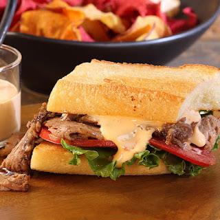 Korean-Style Oven Barbecued Beef Brisket Sandwich with Vanilla Chili Aioli