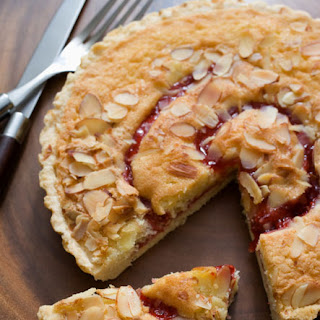 Streusel Topped Cranberry Pear Tart.