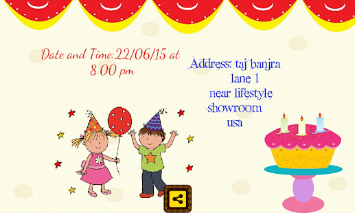 Birthday invitation card maker apps on google play screenshot image filmwisefo Gallery