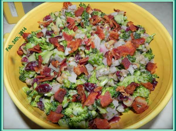 Healthier Broccoli Bacon Salad Recipe