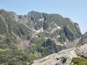 Photo: Col de Crusous et Pic de Pomebrunet , Pic de Lampau (2543  ms) à Gauche