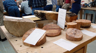 Photo: The Silent Auction needed two tables, here some cherry and maple, ...