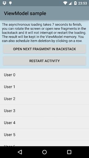 AndroidViewModel sample