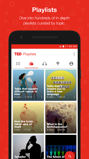 Screenshot 4 for TED's Android app'