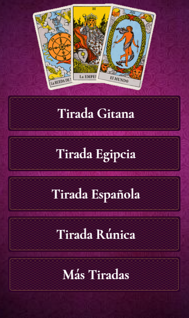 Tirada de cartas- screenshot
