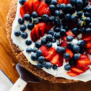 Gluten-Free Almond Cake with Berries on Top Recipe