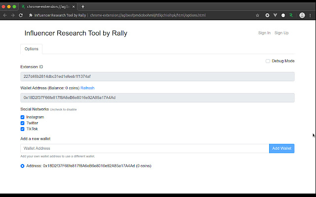 Influencer Research Tool by Rally
