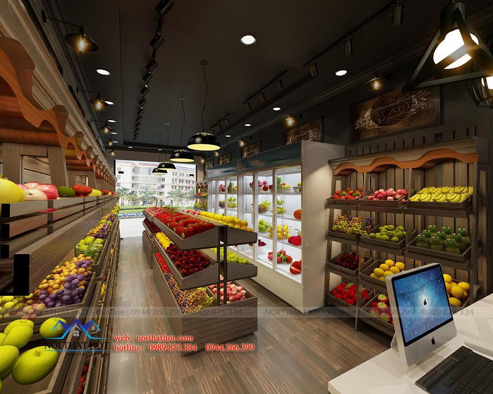 Thiết kế cửa hàng bán hoa quả đẹp
