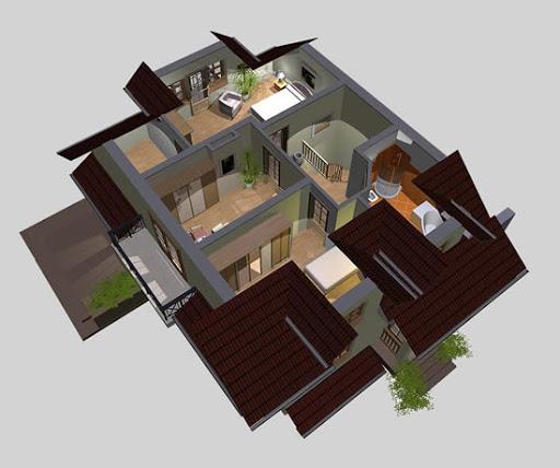 APS 092 - Rzut poddasza 3D