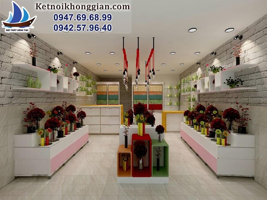 thiết kế cửa hàng hoa tại chùa láng