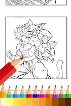 Coloring Book for Super Saiyan - screenshot thumbnail 01