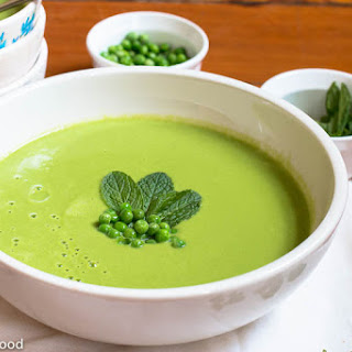 Fresh Pea, Mint & Cumin Soup.