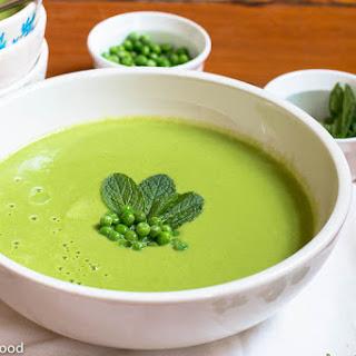 Fresh Pea, Mint & Cumin Soup.