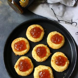 Ginger Marmalade Coconut Thumbprint Cookies.