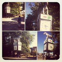 Photo: Iconic Maple Ridge Downtown Beast Horse Clock #intercer #park #walk #tree #branch #leaf #clock #time #light #city #fall #urban #design #town #britishcolumbia #canada #pretty #beautiful #yellow #blue #sky #street #horse #animal #mapleridge - via Instagram, http://instagr.am/p/Qu9JPFpfoB/