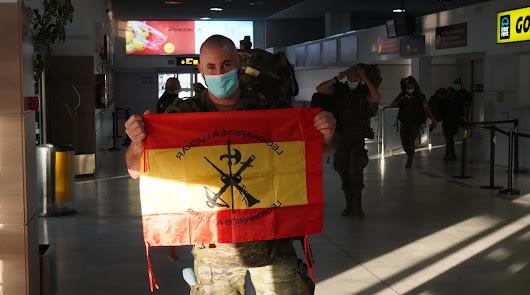El primer grupo de la Legión vuelve de Líbano tras 7 meses