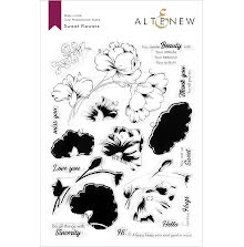 Altenew Clear Stamps 6X8 - Sweet Flowers