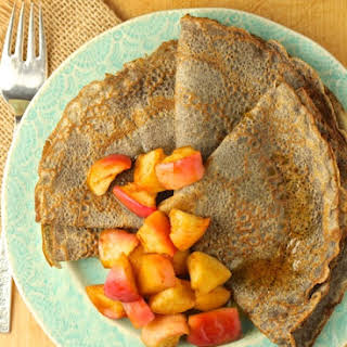 Buckwheat Crepes with Honey-Maple Roasted Apples.