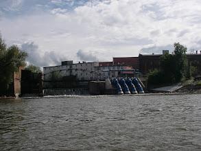 Photo: mostek na wyspę jazów