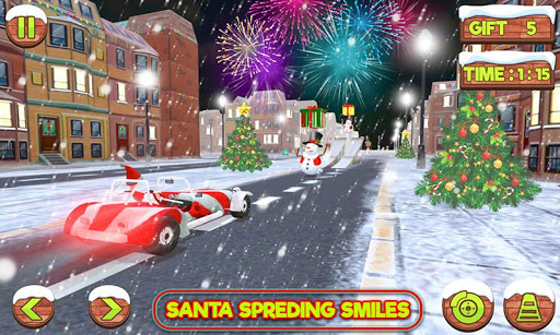 Foto do Santa Claus Stunt Car Christmas Gift Delivery