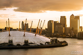 Photo: The Millennium Dome and Canary Wharf -  London, UK. © Yen Baet - www.YenBaet.com / Facebook - www.facebook.com/YenBaetPhotography. All Rights Reserved.