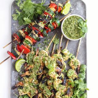 Chimichurri Grilled Shrimp Skewers Recipe