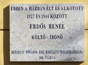 Photo: Tablica na willi Erdős Renée