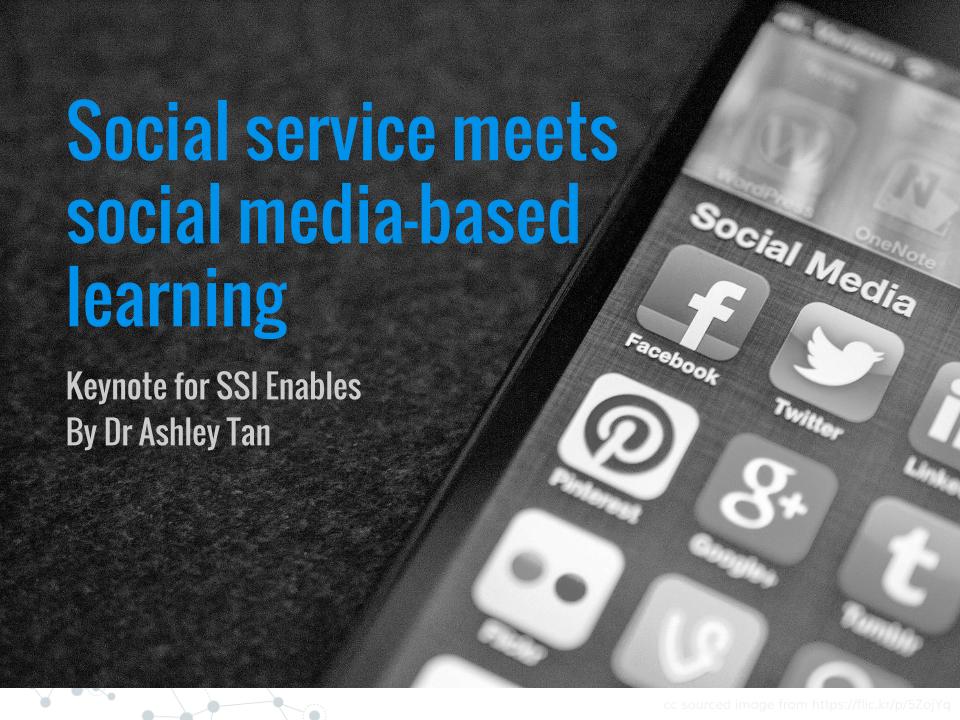 Social service meets social media-based learning