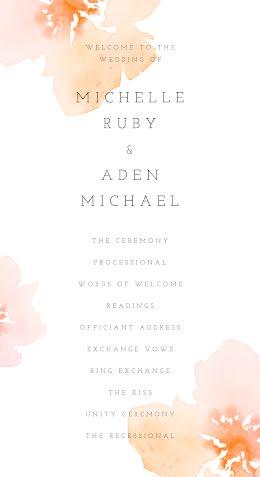 Michelle & Aden - Wedding Ceremony Program item