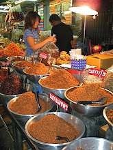 Photo: dried chilli-shrimp mixtures for cooking, Hua Hin market