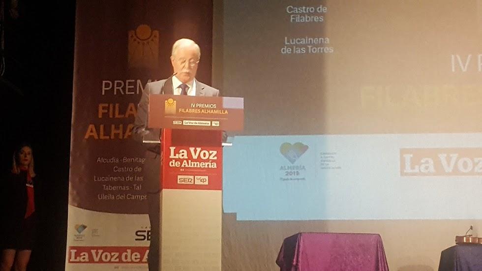 Intervención de Juan Herrera, alcalde de Lucainena de las Torres.