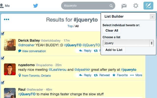 List Builder for Twitter