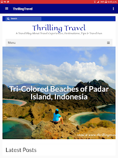 ThrillingTravel App- screenshot thumbnail