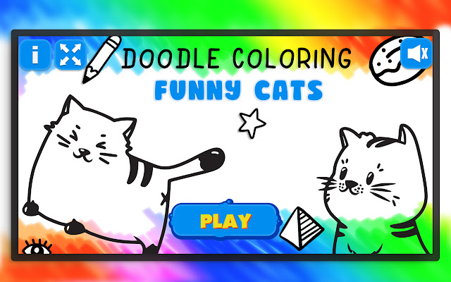 Doodle Coloring - Funny Cats