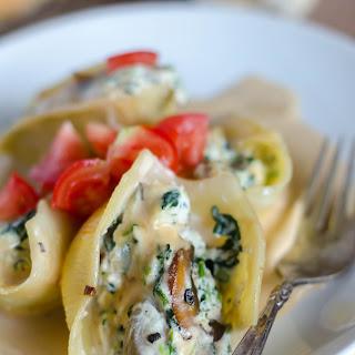 Stuffed Pasta Shells with Creamy Marsala Sauce.