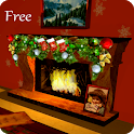 3D Christmas Fireplace HD Live Wallpaper icon