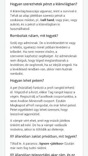 Avalion Minecraft Szerver