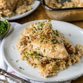 4 Ingredient Chicken & Rice Casserole.