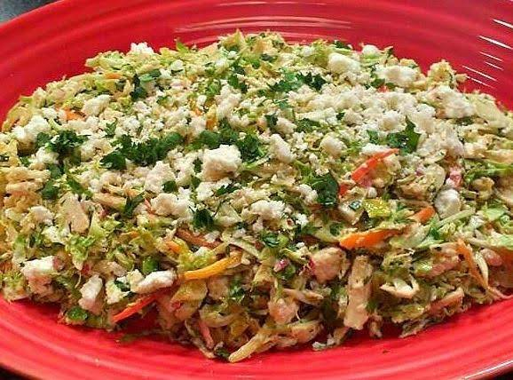 Mexican Brussels Sprout Slaw