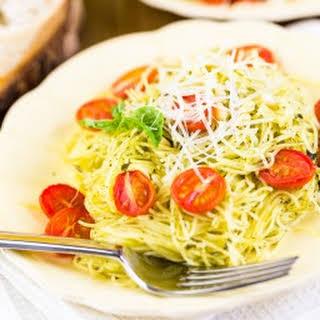 Angel Hair Pasta with Lemon & Garlic.