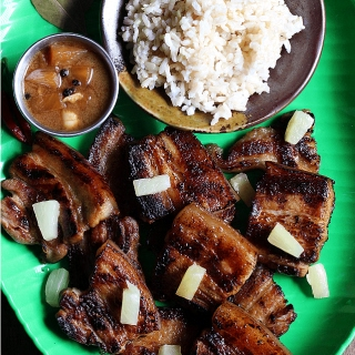 Grilled Adobong Liempo.
