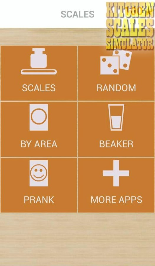 Kitchen scales simulator android apps on google play for Kitchen scale with app