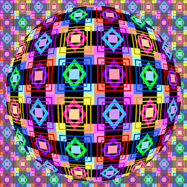 PATTERN OP ART by Cassy 67 - Illustration Abstract & Patterns ( digital, love, op art, harmony, abstract art, trippy, pattern, abstract, creative, digital art, psychedelic, modern, light, style, energy, fashion )